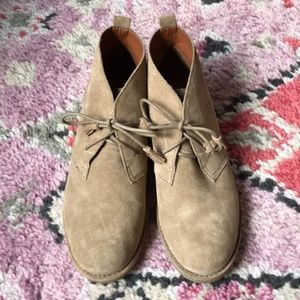 Lucky Brand Suede Chukka Hush Puppies Ankle Boots